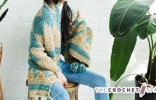 Thick Tribal Crochet Wrap || The Crochet Space