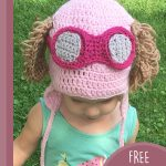 Toddler Paw-Patrol Crochet Hat. Crafted in pink with accents || thecrochetspace.com
