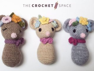 Tricky Dicky Crochet Doormouse || thecrochetspace.com