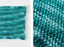 Tunisian Purl Crocheted Dishcloth | thecrochetspace.com