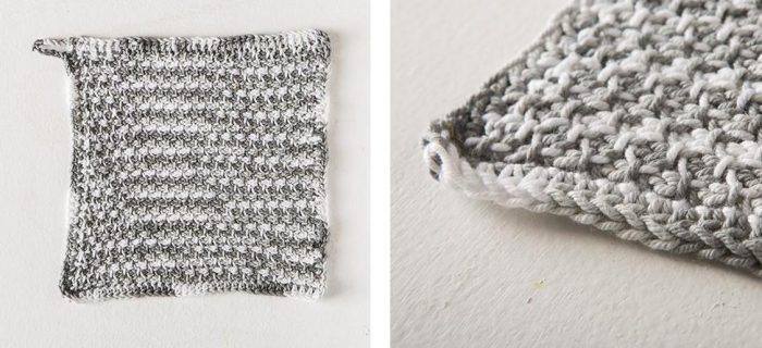 Tunisian Seed Crochet Dishcloth | thecrochetspace.com