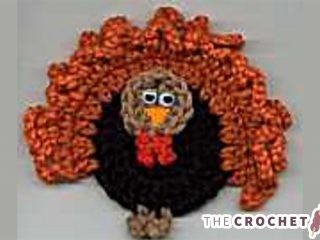 Turkey Crochet Fridge Magnet || thecrochetspace.com