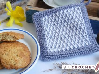 Typical Tunisian Crochet Potholder || thecrochetspace.com