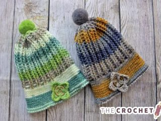 Uniquely Ribbed Crochet Hat || The Crochet Space