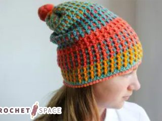 Uniquely Textured Crochet Hat || thecrochetspace.com