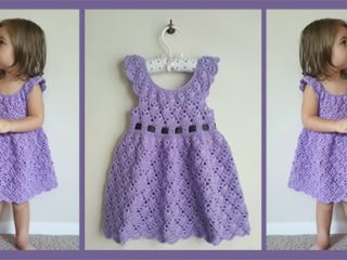 Vintage Lacey Crochet Dress || thecrochetspace.com