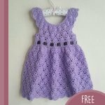 Vintage Lacey Crochet Dress. Violet, lace dress with no sleeves || thecrochetspace.com