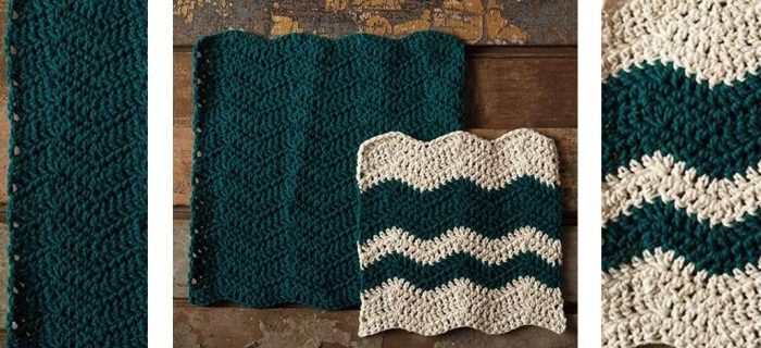 Crashing Waves Crochet Dishcloth | thecrochetspace.com
