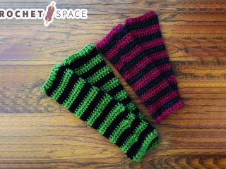 Witches Crocheted Leg Warmers    thecrochetspace.com