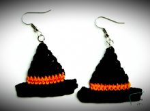 Witches Hat Crochet Earrings | thecrochetspace.com
