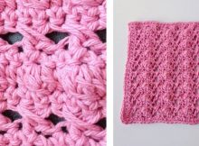 Love Shack Crochet Dishcloth | thecrochetspace.com