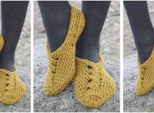 amber road crocheted slippers | the crochet space