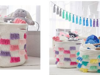 basket for baby's things | the crochet space