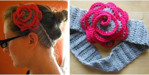 blooming flower crocheted headband | the crochet space