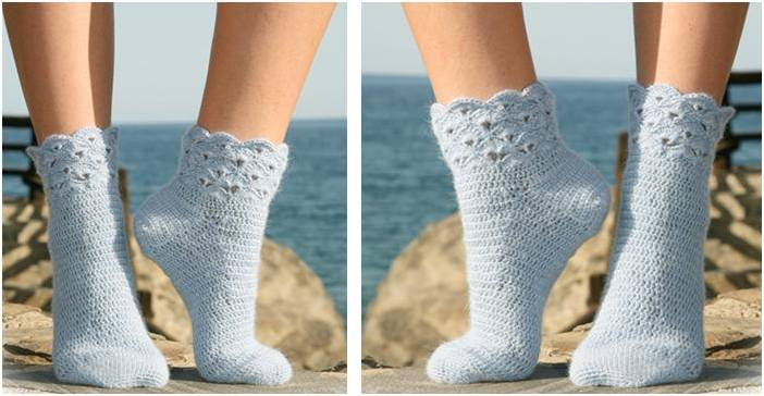 breezy seaside crocheted socks | the crochet space