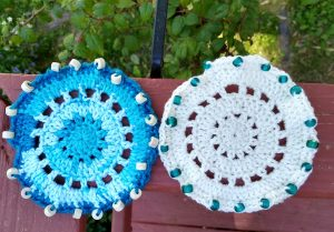 Crochet Beaded Glass Cover A| thecrochetspace.com