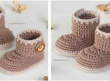 cocoa crocheted baby ankle booties | the crochet space