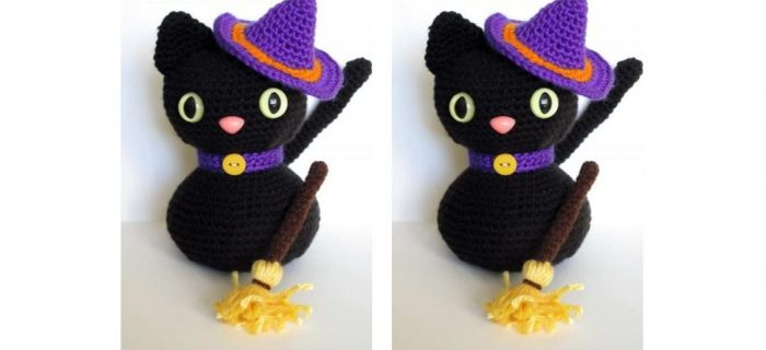 Crochet Halloween Black Cat | thecrochetspace.com