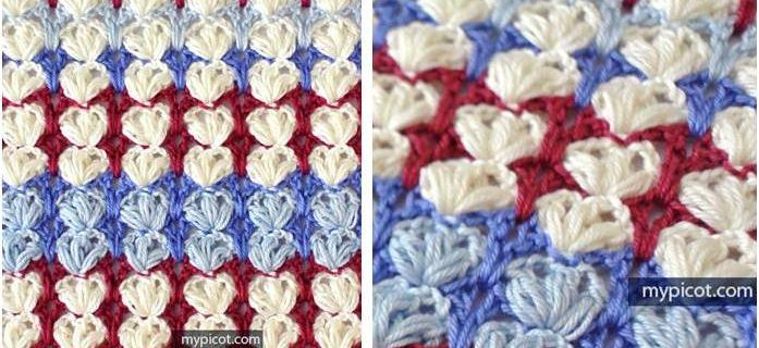 crocheted puff shell stitch | the crochet space
