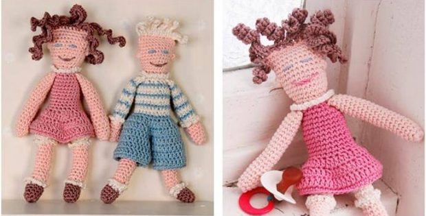 Cuddlesome Crocheted Dolls Free Crochet Pattern