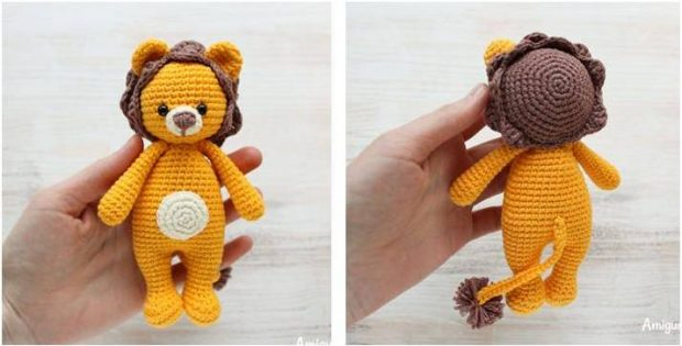 cuddly lion crocheted toy | the crochet space