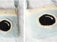 cutiful camera crocheted satchel | the crochet space