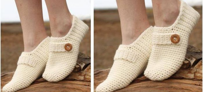 dainty nelle crocheted slippers | the crochet space