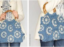 dahlia crocheted hexagon handbag | the crochet space