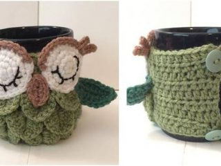 dreamy owl crocheted mug cozy | the crochet space
