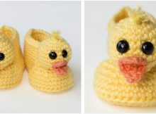 duckling crocheted baby booties | the crochet space