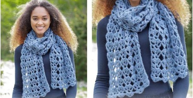 Everlasting Crocheted Lace Scarf Free Crochet Pattern