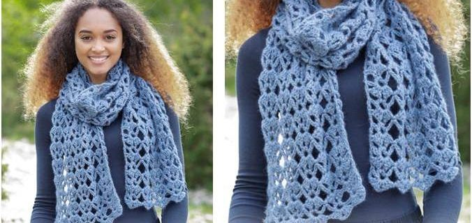 everlasting crocheted lace scarf | the crochet space