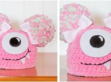 fuzzy monster crocheted newborn hat | the crochet space