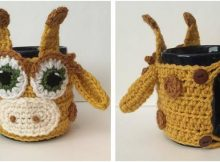 giraffe crocheted mug cozy | the crochet space
