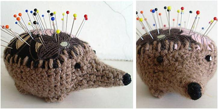 hedgehog crocheted pincushion | the crochet space