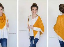honey bird crocheted triangle scarf | the crochet space