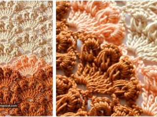 long loop crocheted shell stitch   the crochet space