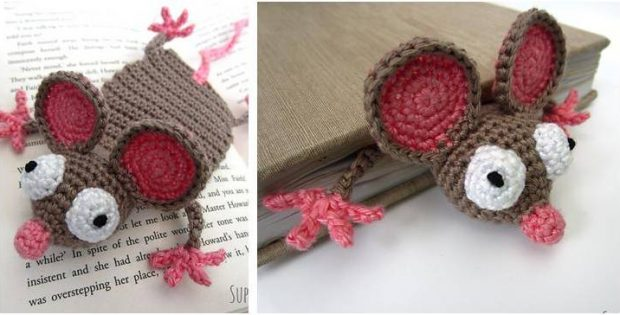 mouse crocheted bookmark | the crochet space