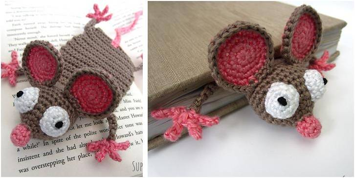 Mouse Crocheted Bookmark [FREE Crochet Pattern] Impressive Crochet Bookmark Pattern