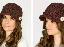 nifty newsboy crocheted hat | the crochet space