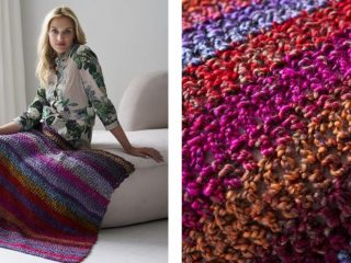 Opal Fruit Crocheted Afghan | thecrochetspace.com