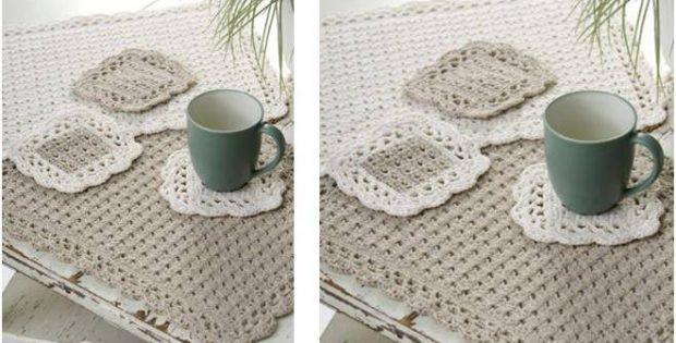 Options Crocheted Placemat Set Free Crochet Pattern
