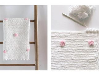 Dotty Crochet Baby Blanket | thecrochetspace.com