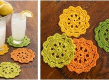 pretty crocheted coasters | the crochet space