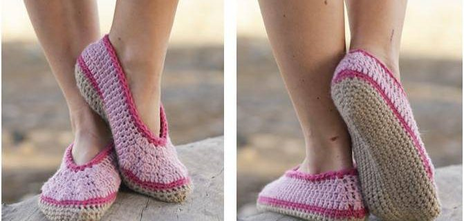 rose petals crocheted slippers | the crochet space