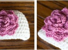 rosy crocheted newborn hat | the crochet space