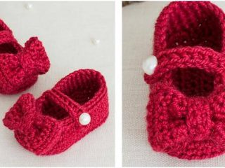 ruby red crocheted Mary Jane booties   the crochet space