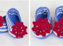sailor crocheted baby booties | the crochet space