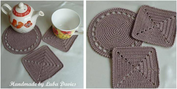 Simply Easy Crocheted Coaster Set Free Crochet Pattern