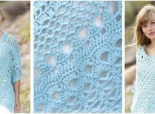 sky love crocheted poncho | the crochet space